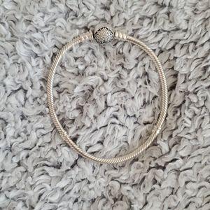 Pandora moments snake chain heart cz bracelet